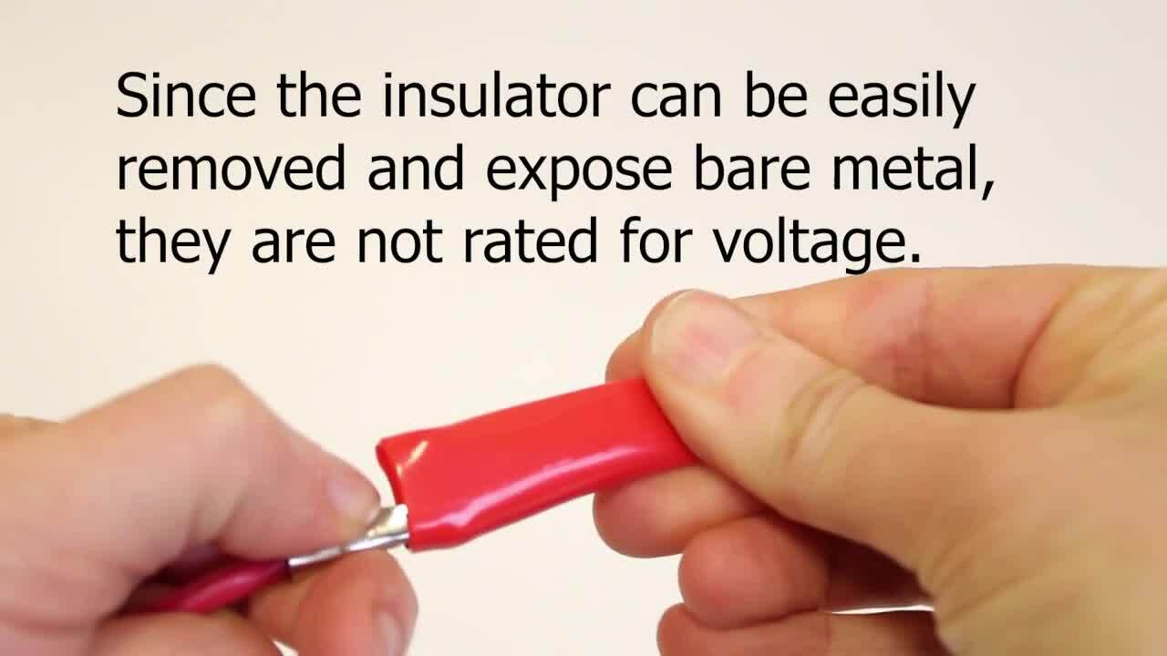 Why Don't Some Alligator Clips have Voltage Ratings