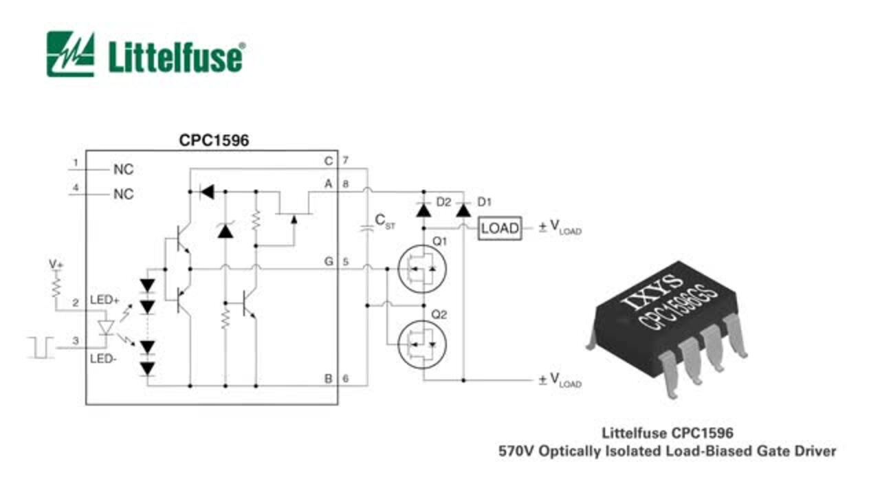 Solid State Relay Optical 570V Gate Driver - CPC1596