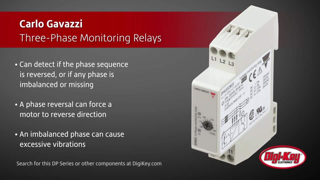 Carlo Gavazzi Three-Phase Monitoring Relays | Digi-Key Daily