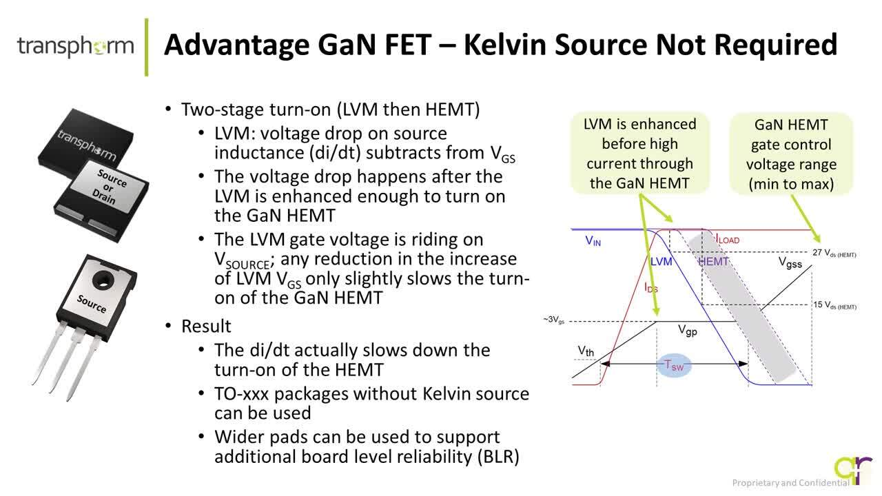 Transphorm's GaN FET Eliminates Need for Kelvin Connection Ver 1 0