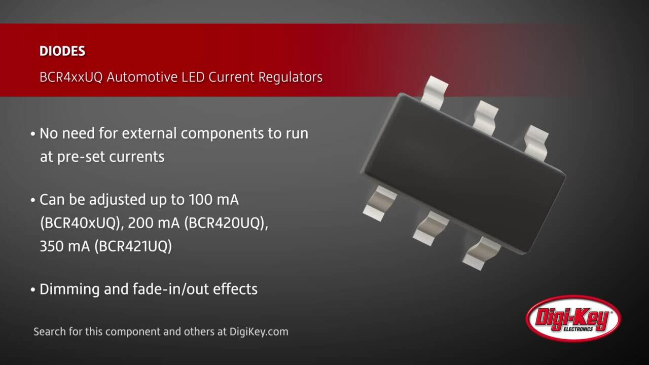 Diodes BCR4xxUQ Series LED Current Regulators | Digi-Key Daily