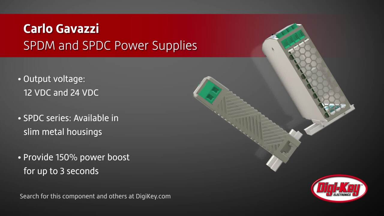Carlo Gavazzi SPDM and SPDC Power Supplies | Digi-Key Daily