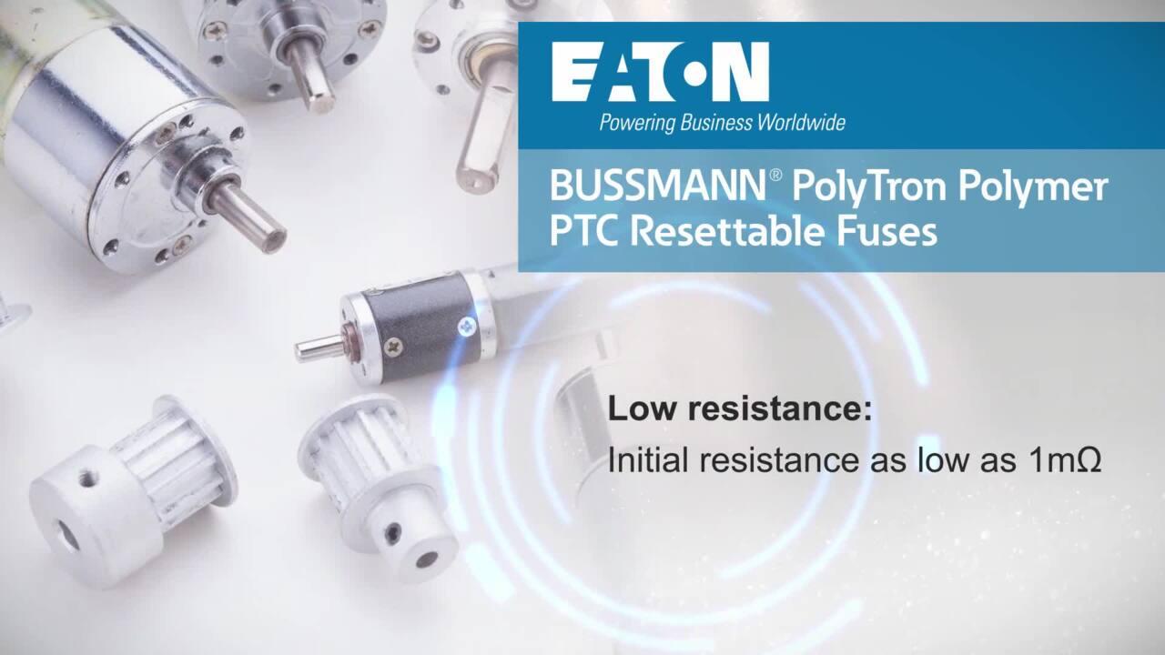 Bussmann PTSLR Surface Mount Low Resistance PTC Resttable Fuses