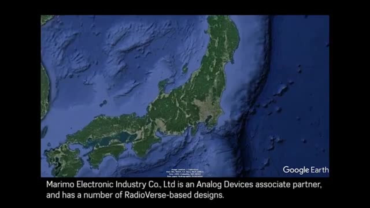 Marimo Electronics' Cognitive Radio System based on RadioVerse