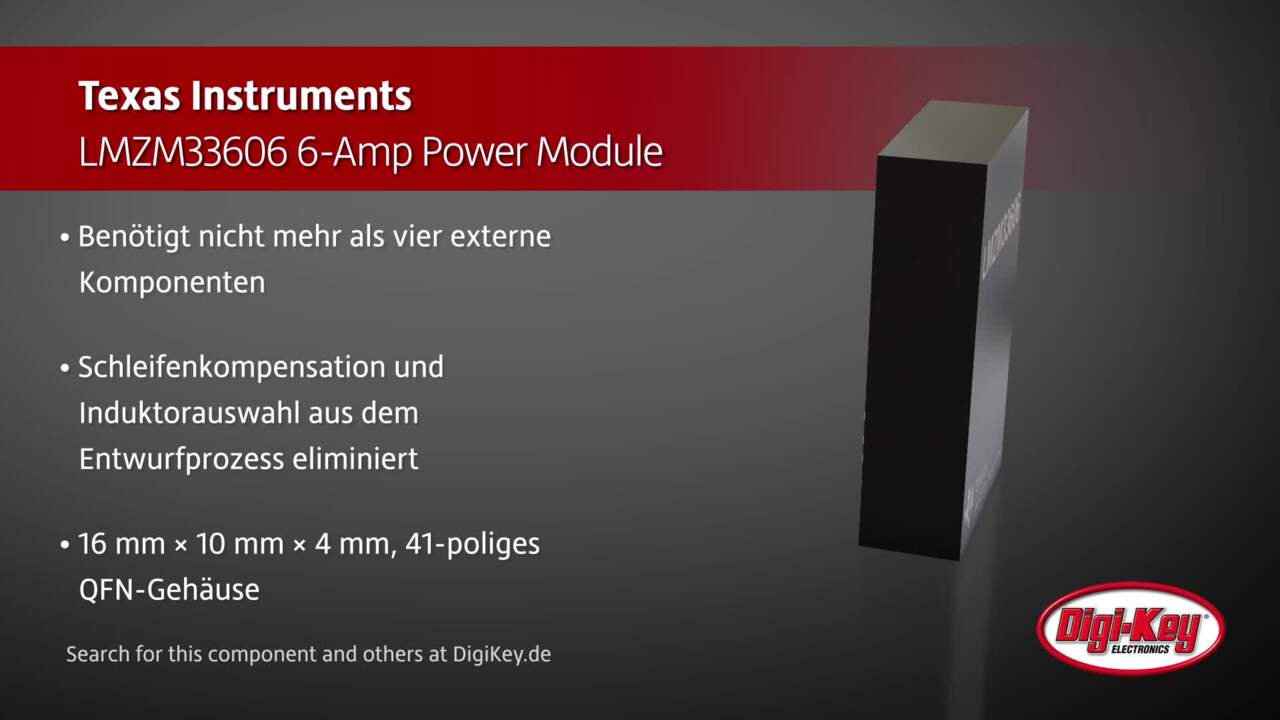 Texas Instruments LMZM33606 Power Module | Digi-Key Daily