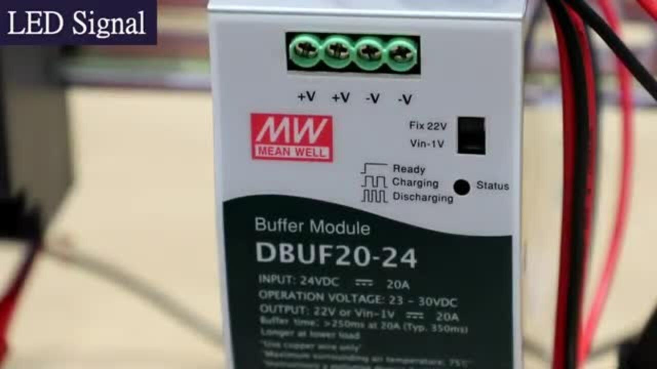 MEAN WELL DBUF20/40 20A/40A DIN Rail Buffer Modules