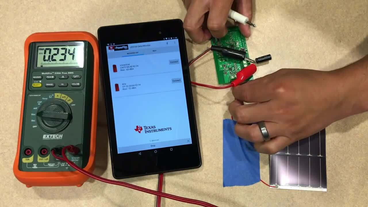 Bluetooth Indoor Solar Development Kit Demo