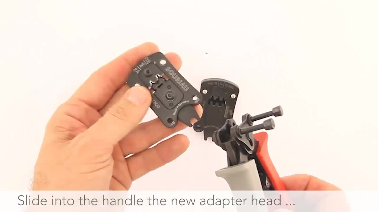 How to change heads of Shandles Crimp tool