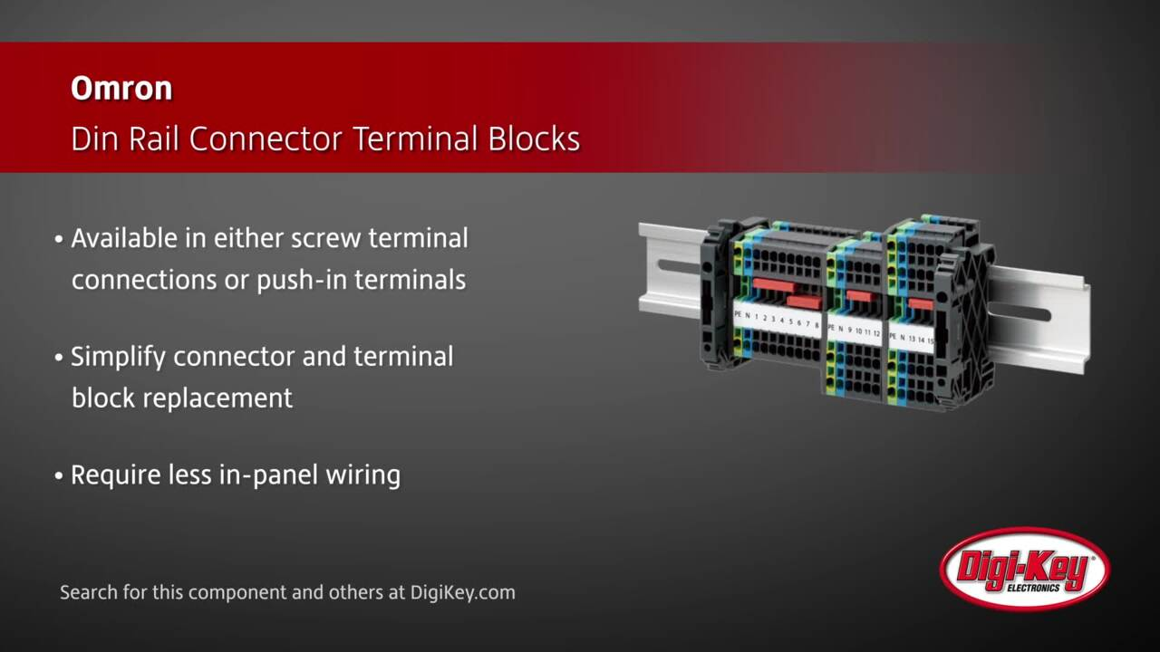 Omron Din Rail Connector Terminal Blocks | Digi-Key Daily