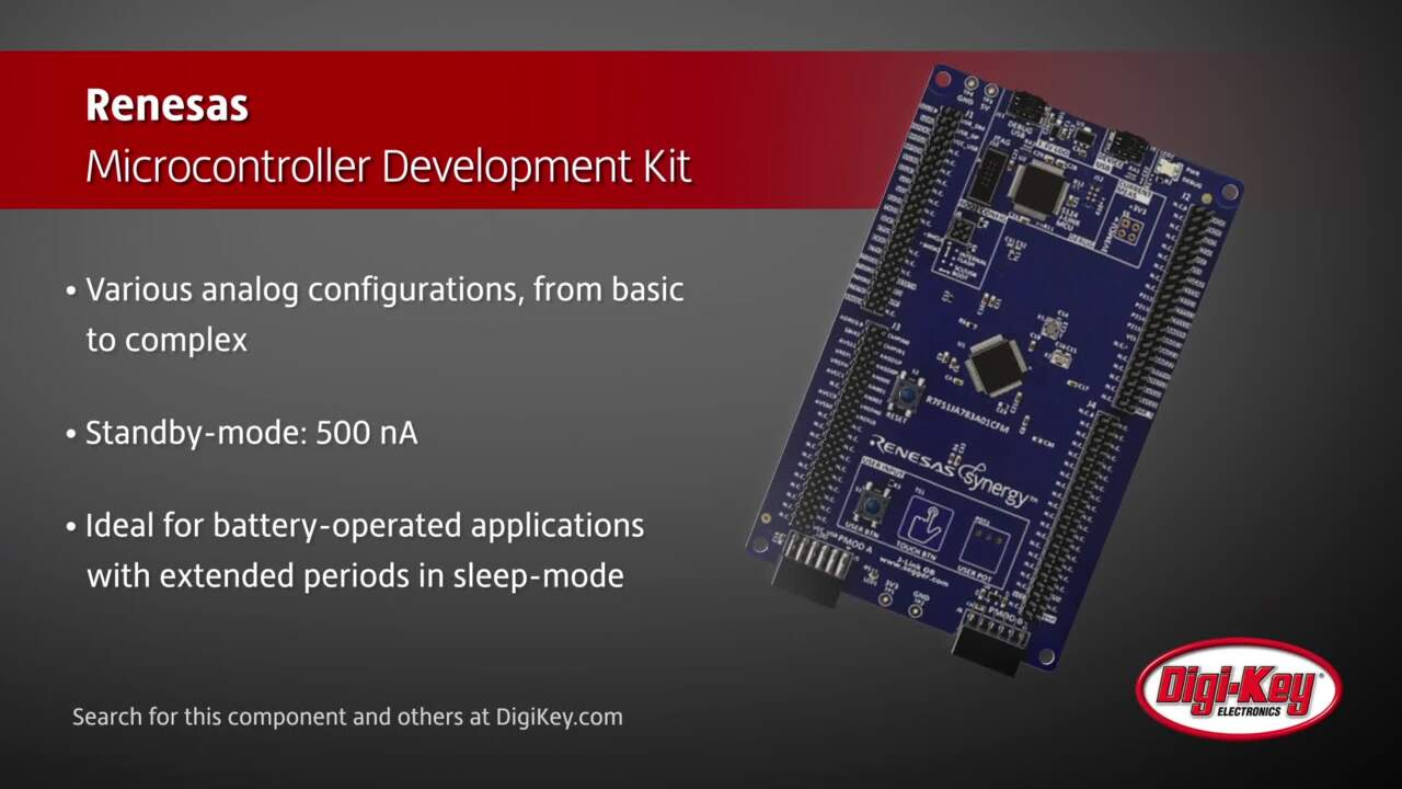 Renesas S1 Series MCU Development Kit | Digi-Key Daily