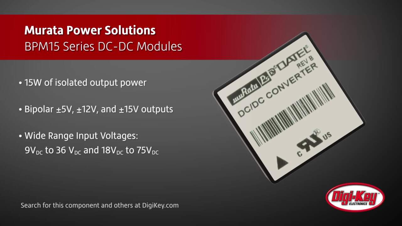 Murata BPM15 Series DC-DC Modules | Digi-Key Daily