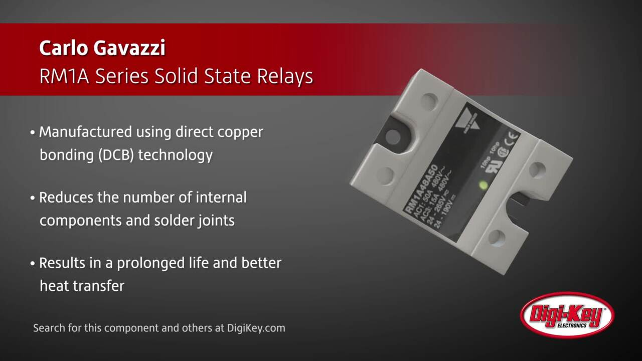 Carlo Gavazzi RM1A Series Solid State Relays | Digi-Key Daily