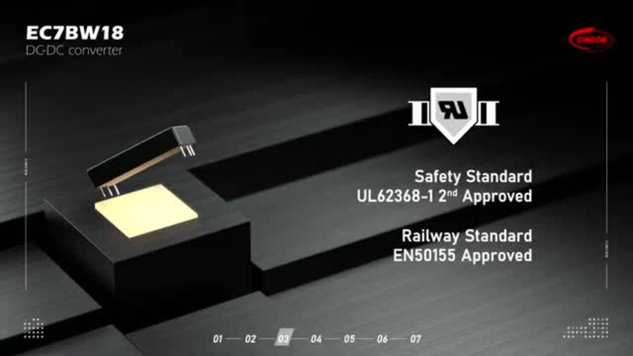 Cincon EC7BW18 Series - Ultra-wide Input Range DC-DC Converters