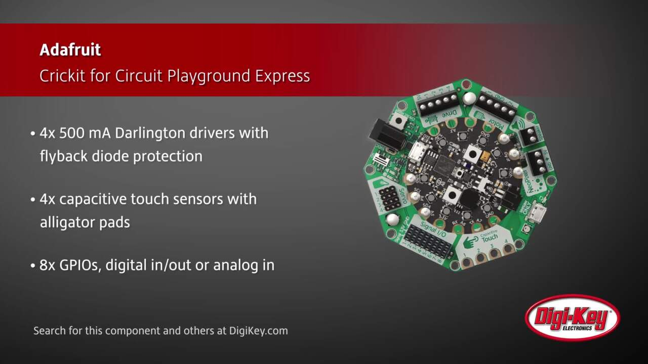Adafruit Crickit for Circuit Playground Express | Digi-Key Daily