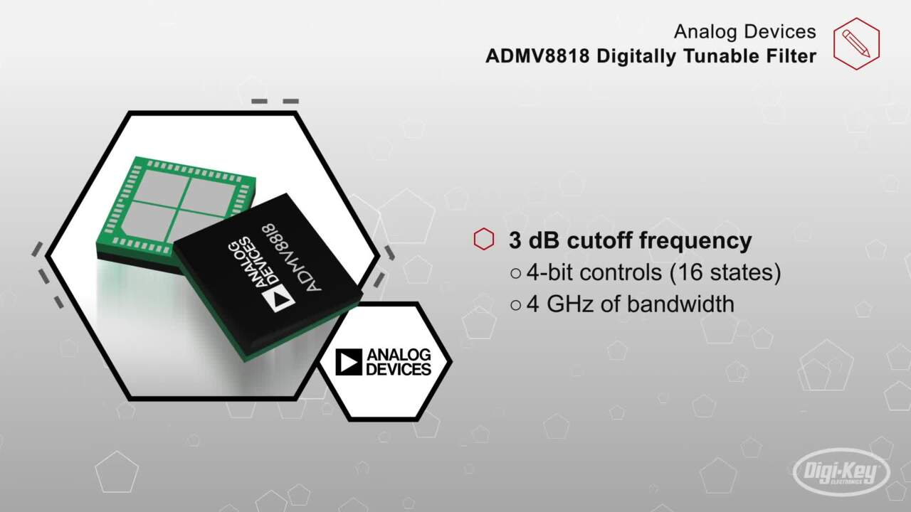 Analog Devices ADMV8818 Digitally Tunable Filter | Datasheet Preview
