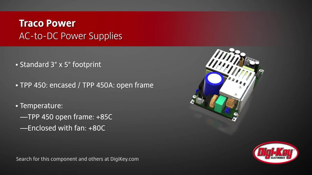 Traco Power TPP 450 Series Power Supplies | Digi-Key Daily