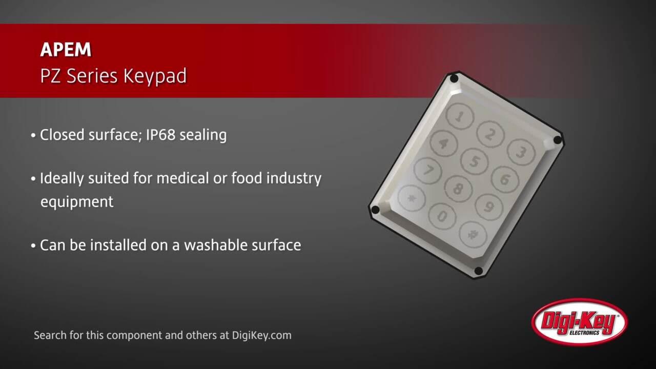 APEM PZ Series Keypad | Digi-Key Daily