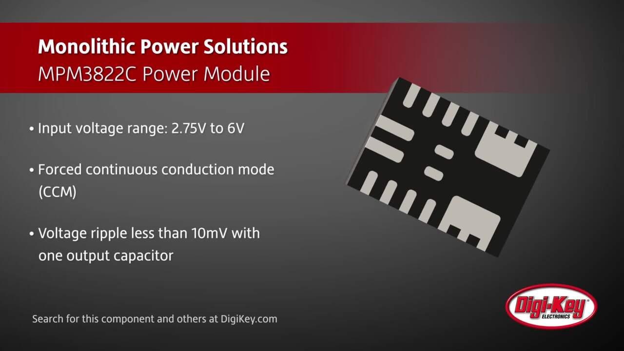 Monolithic Power Systems MPM3822C Power Module | Digi-Key Daily