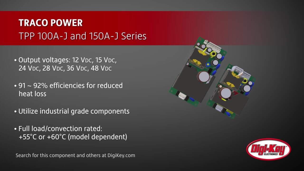 TRACO POWER TPP 100A-J and 150A-J Series | Digi-Key Daily