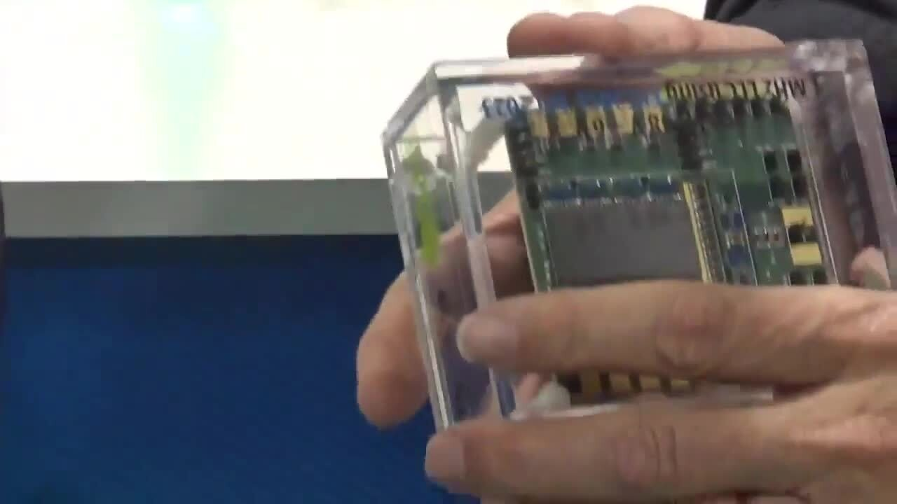 EPC's Alex Lidow shows off their latest wide-bandgap solutions at APEC