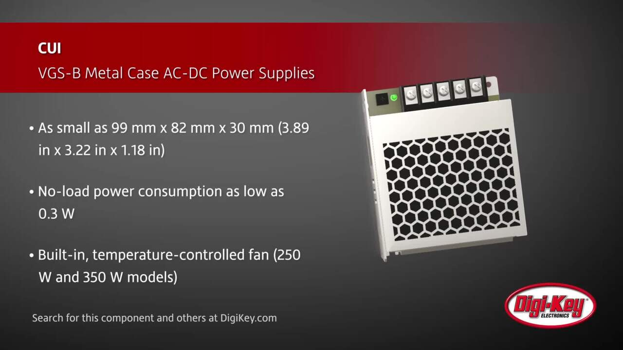 CUI VGS-B Metal Case AC-DC Power Supplies | Digi-Key Daily