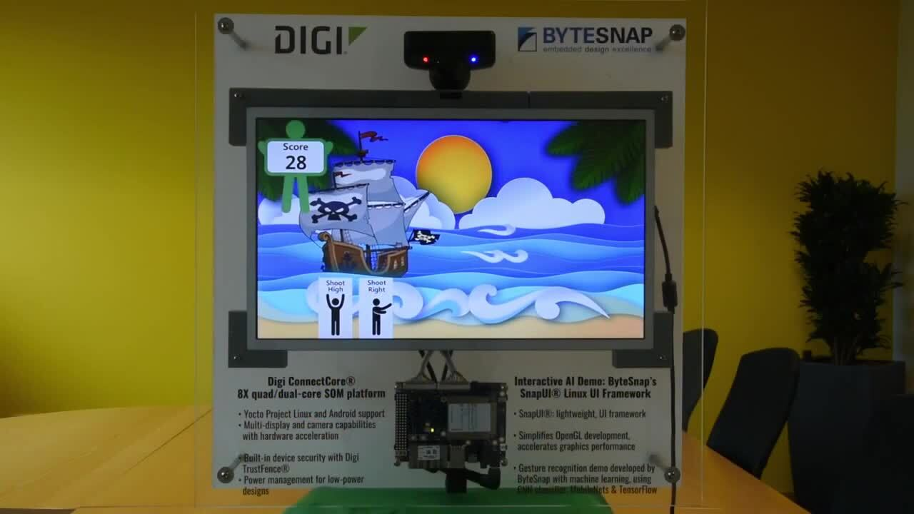 Machine Learning Demo with Digi ConnectCore and ByteSnap SnapUI
