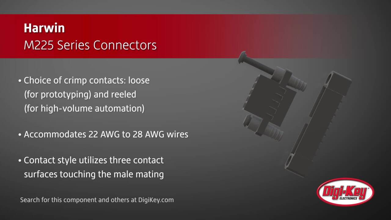Harwin M225 Series Connectors | Digi-Key Daily