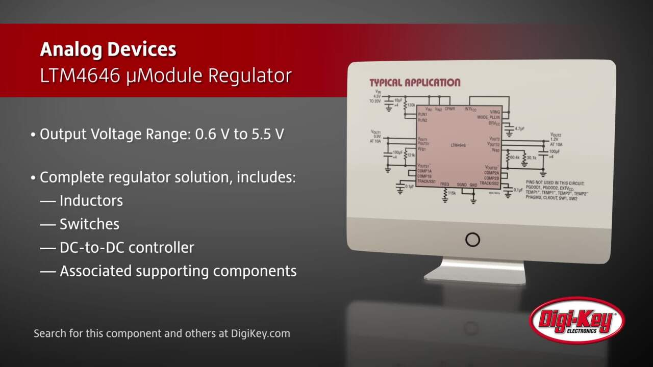 Analog Devices LTM4646 µModule Regulator | Digi-Key Daily