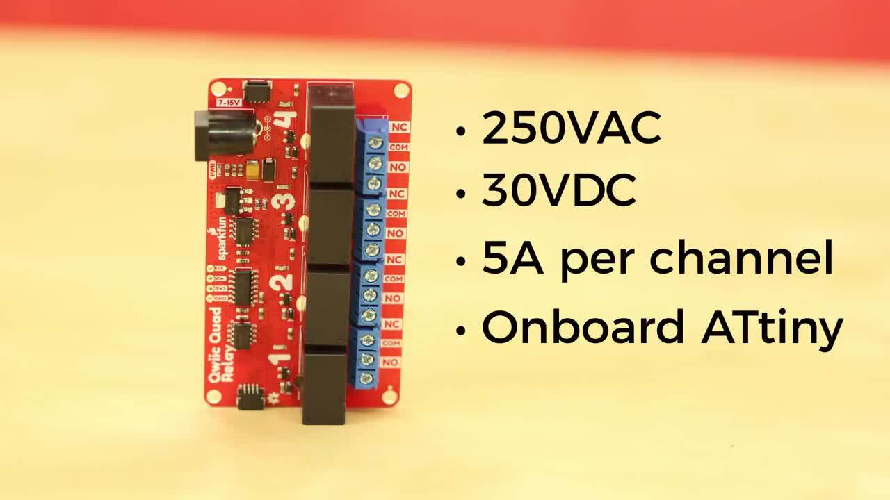Product Showcase: SparkFun Qwiic Single and Quad Relay Boards