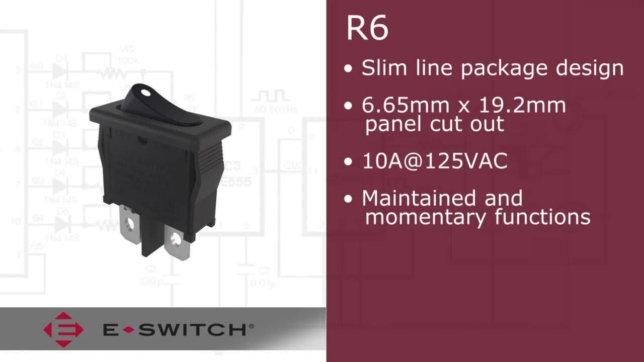 R6 E-Switch Rocker