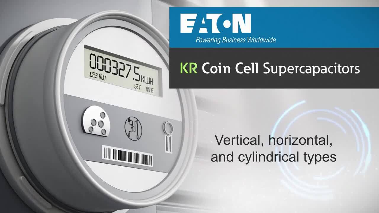 KR and KW Series Coin Cell Supercapacitors replace Coin Cell Batteries