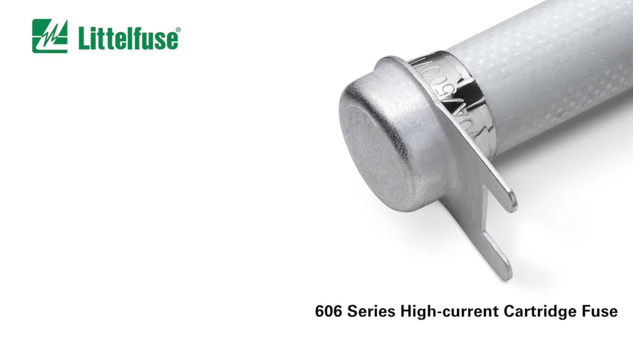 High Current 500VAC Compact Cartridge Fuses – 606 Series