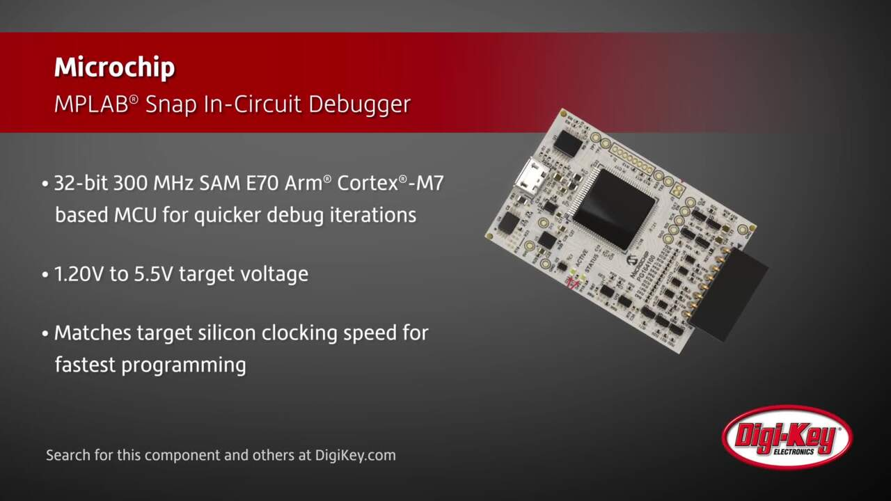 Microchip MPLAB® Snap In-Circuit Debugger | Digi-Key Daily
