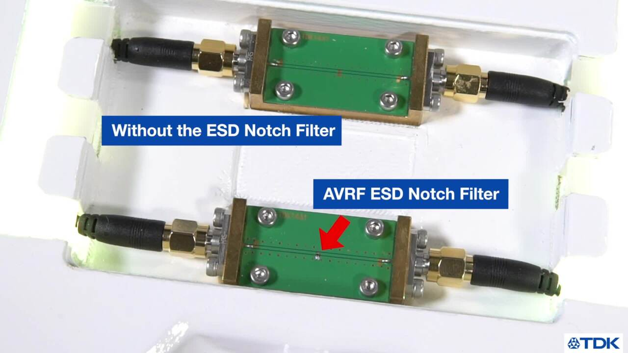 ESD Notch Filter Demonstration