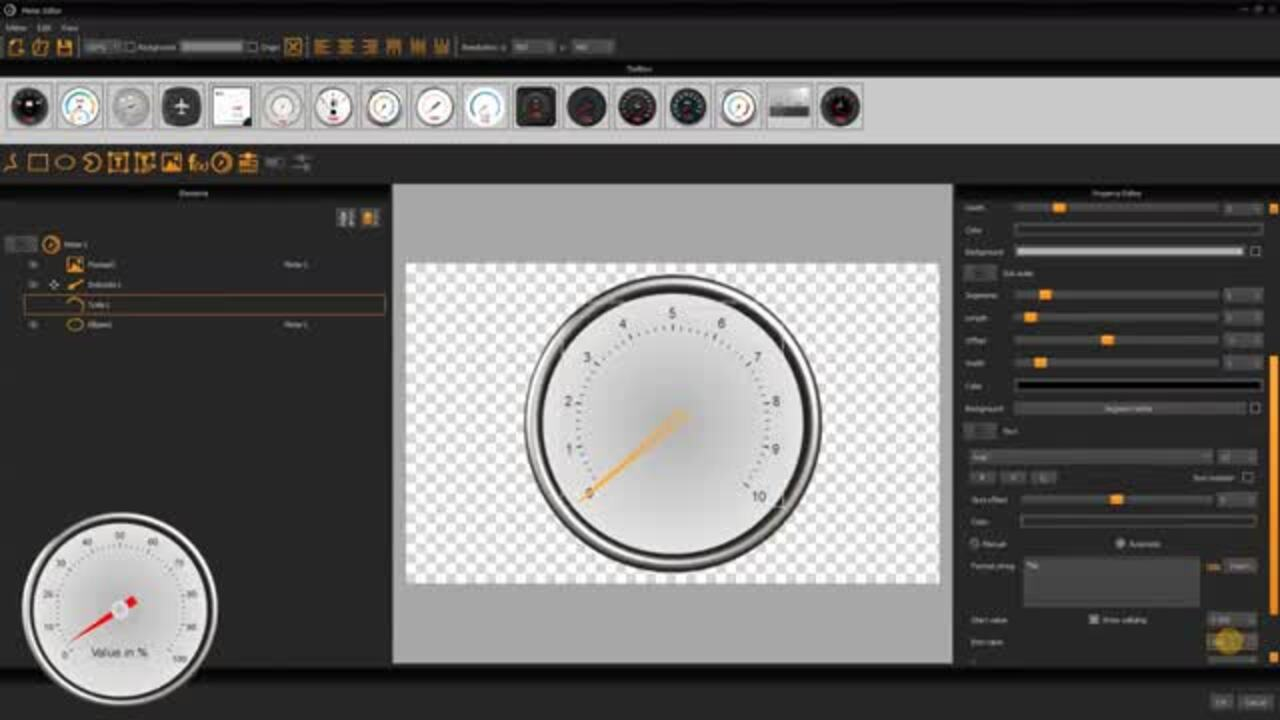 uniTFTDesigner Meter Editor - Tutorial Simple Meter
