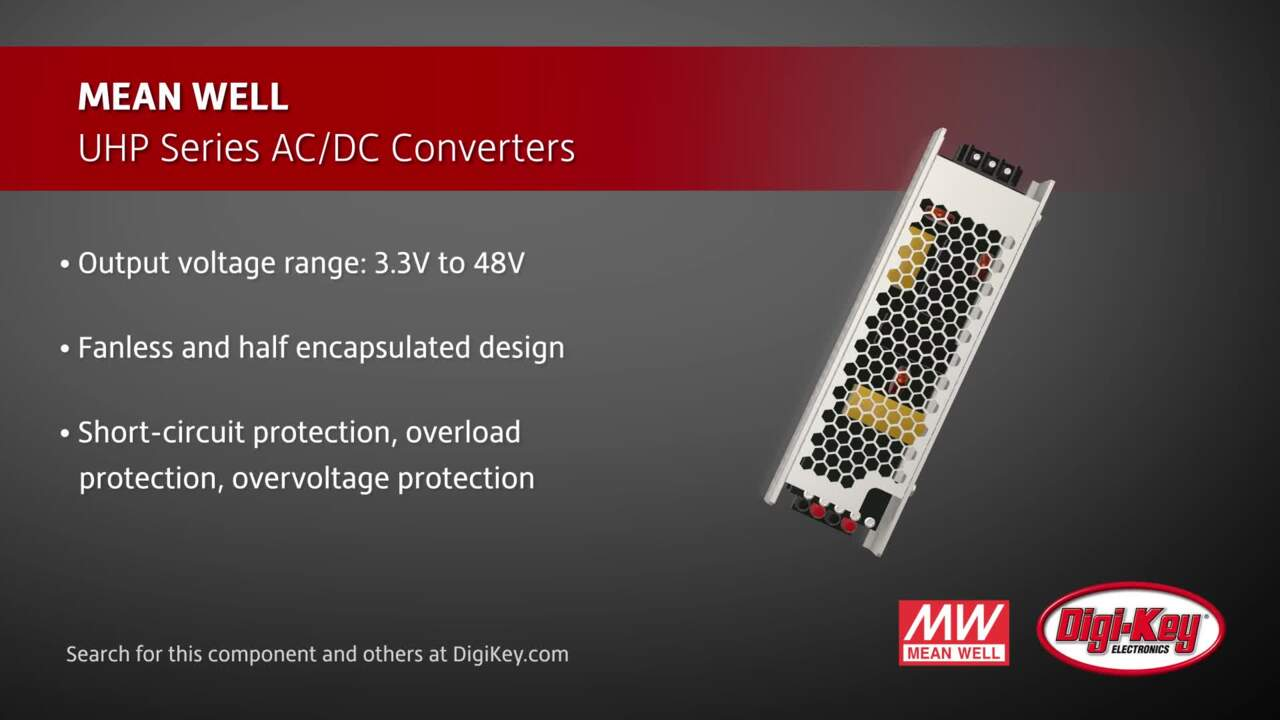 MEAN WELL UHP Series AC/DC Converters | Digi-Key Daily