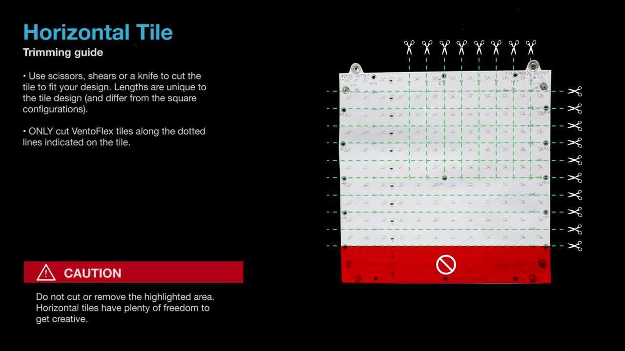 VentoFlex - Cutting  Trimming Guide -Customizable Lighting System