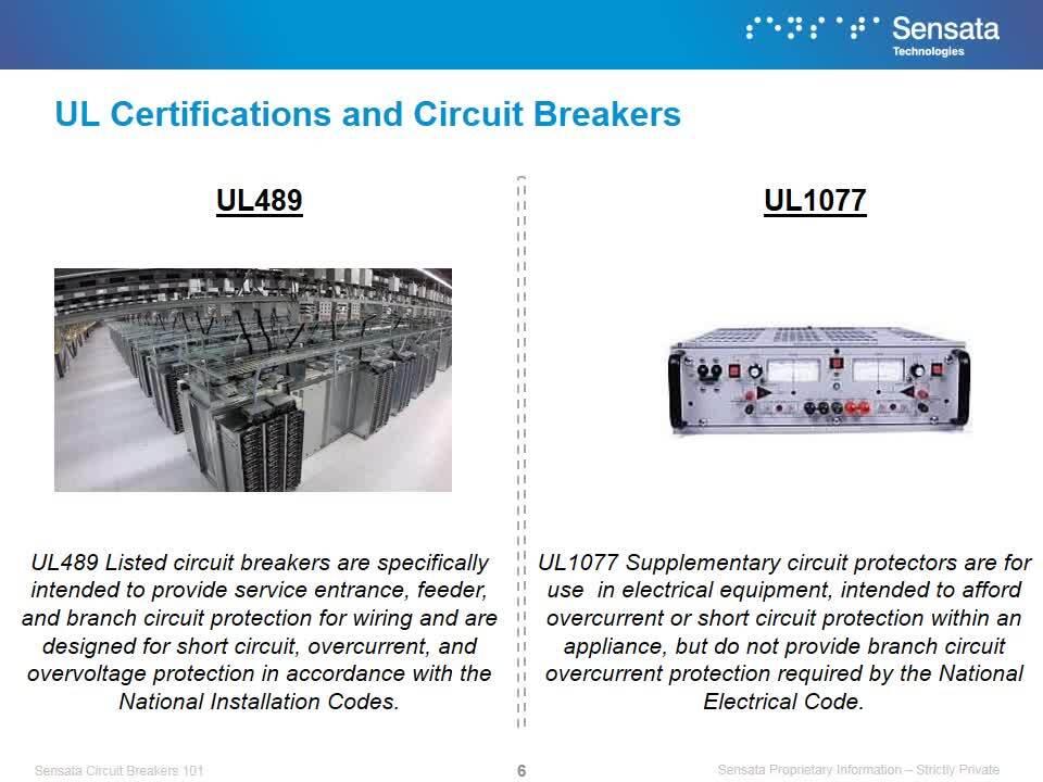 Sensata University | Circuit Breakers 101