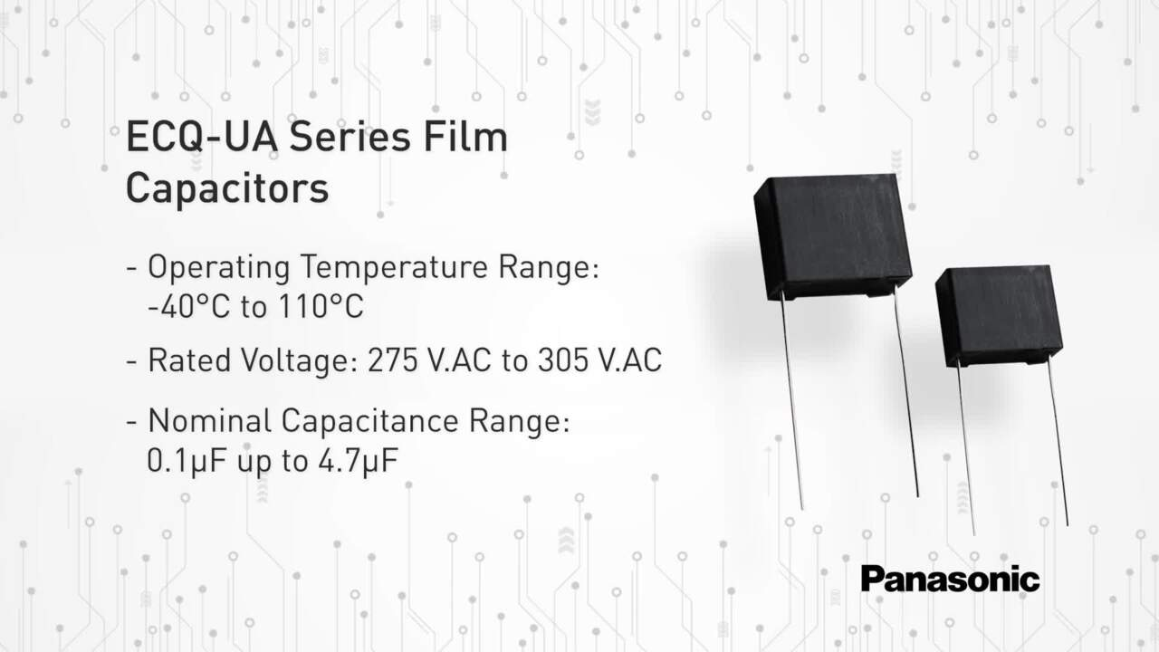 ECQ-UA Series Metallized Polypropylene Film Capacitors