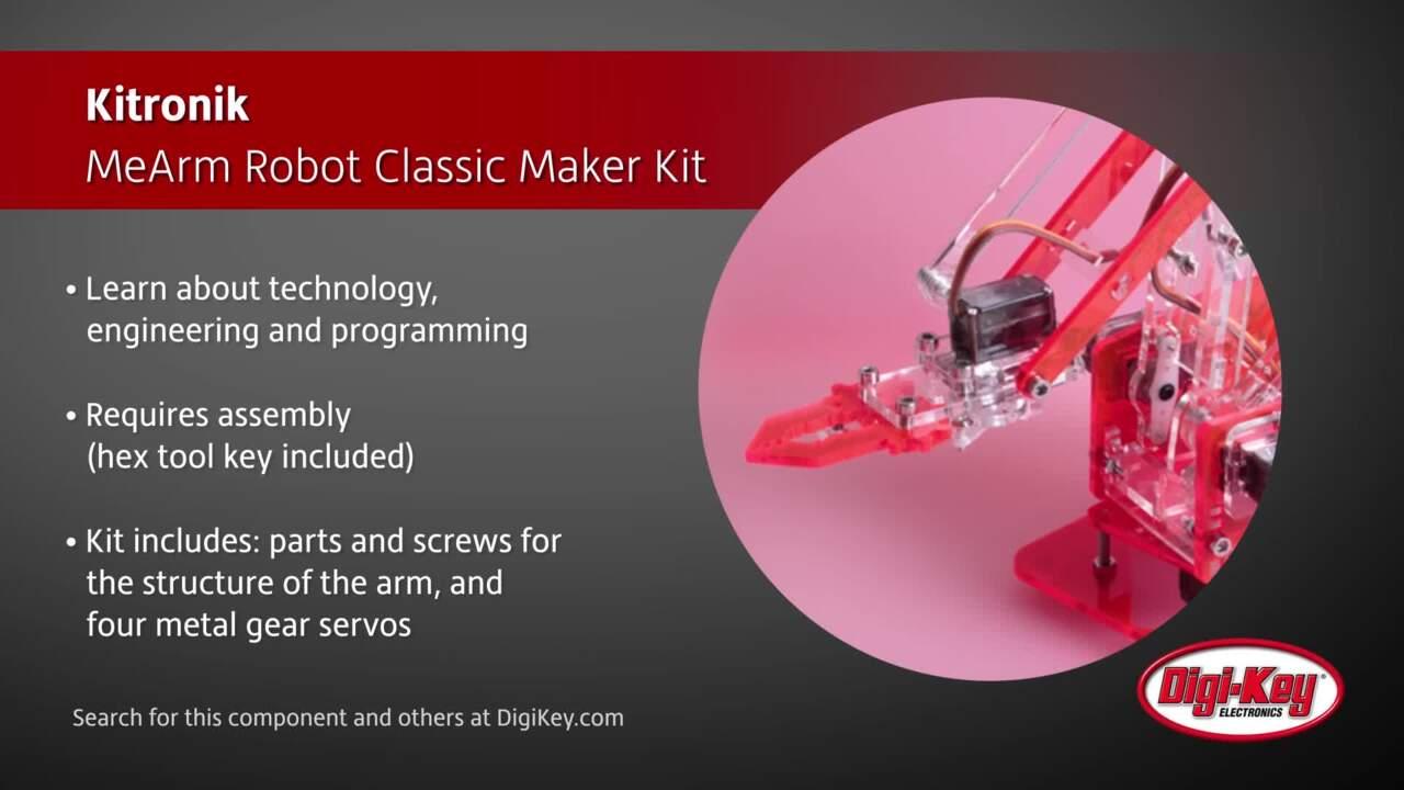 Kitronik MeArm Robot Classic Maker Kit | Digi-Key Daily