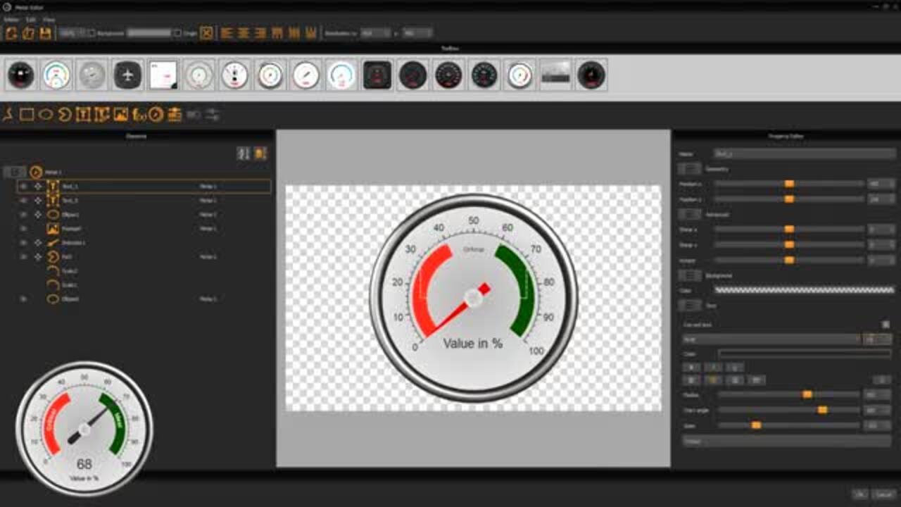 uniTFTDesigner Meter Editor - Tutorial Advanced Meter