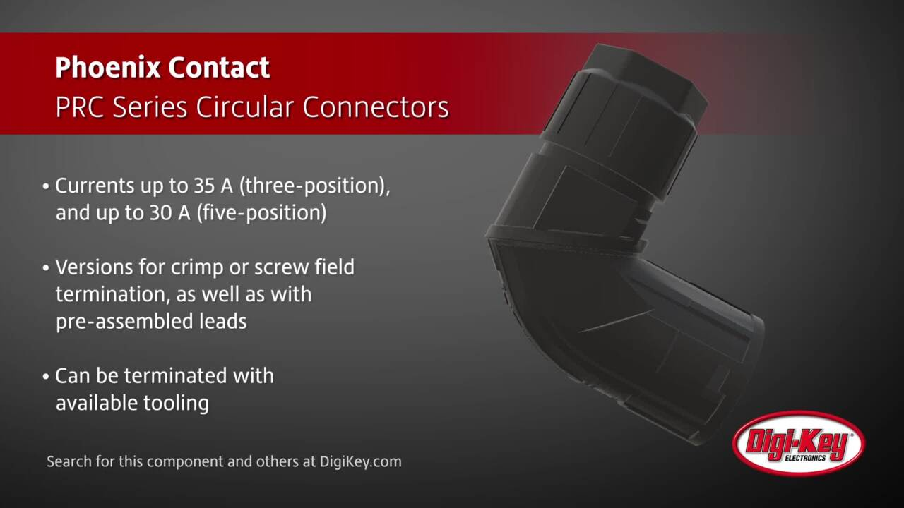 Phoenix Contact PRC Series Circular Connectors | Digi-Key Daily