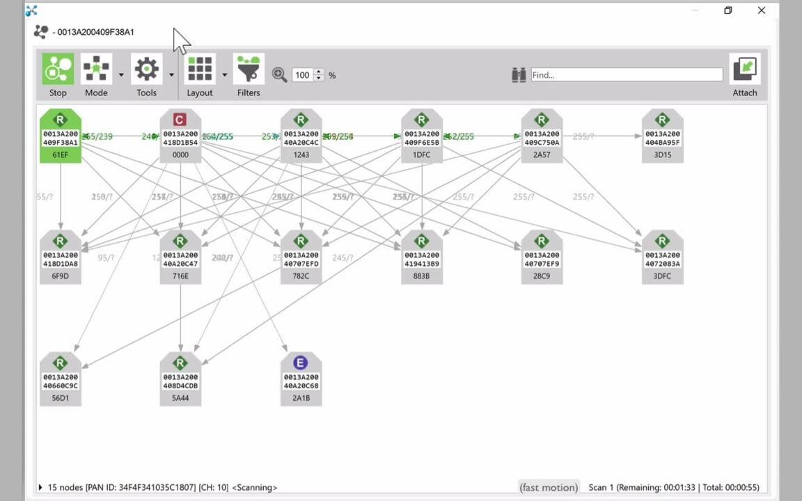 Digi XCTU Live Network Mapping