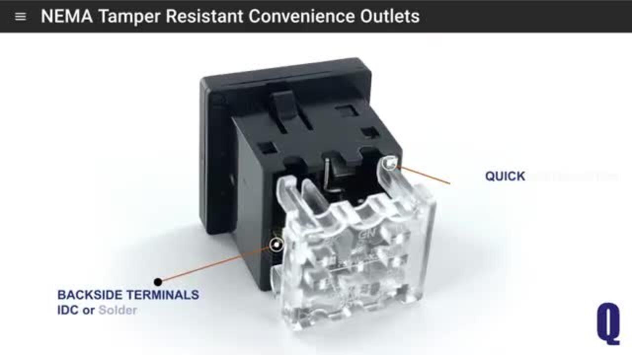 739W-X2/55 Nema Tamper Resistant Convenience Outlet