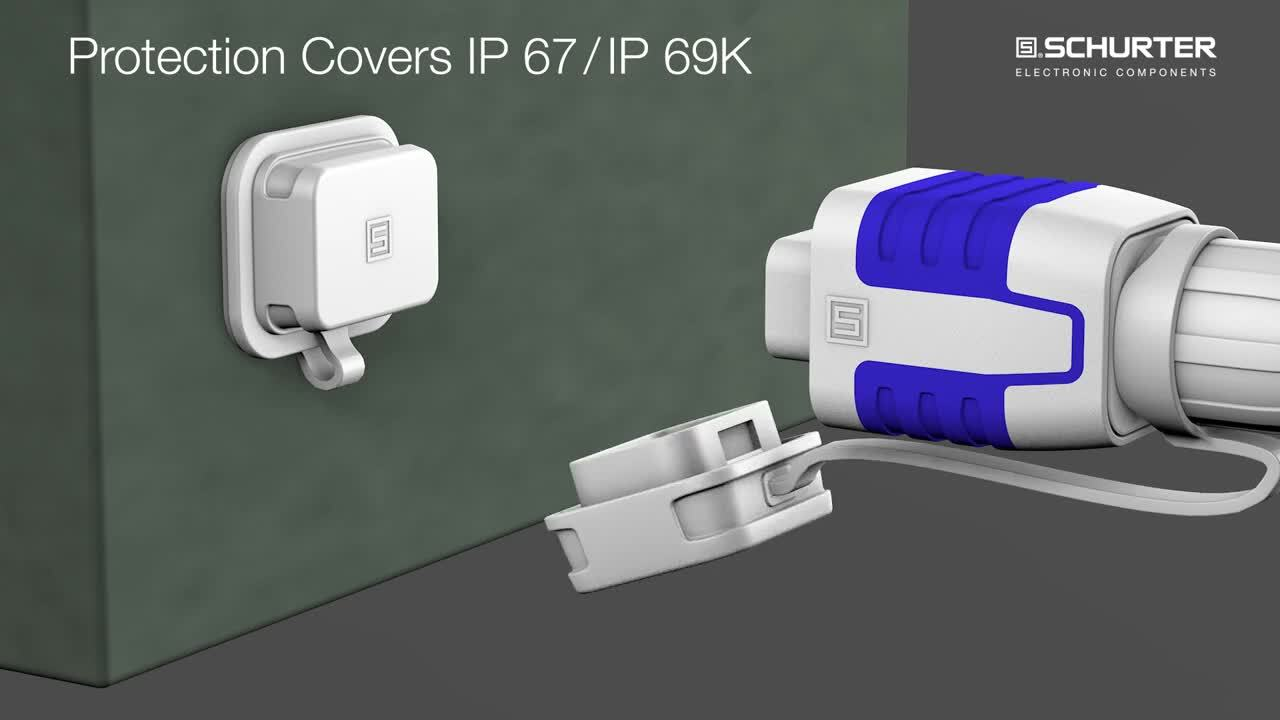 Waterproof Push/Pull Coupler with protection degree IP67 and IP69K
