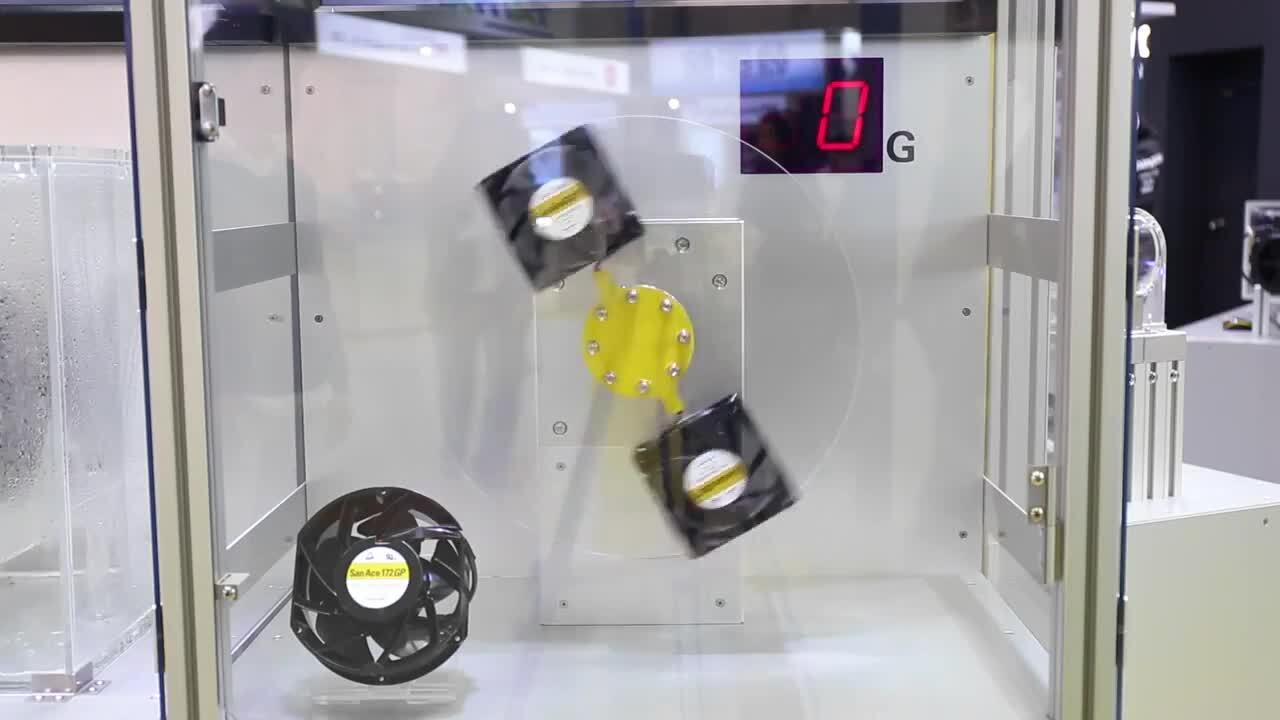 Sanyo Denki G Proof Fan with High G-Force Tolerance(75G) - SanAce GP Series On Display