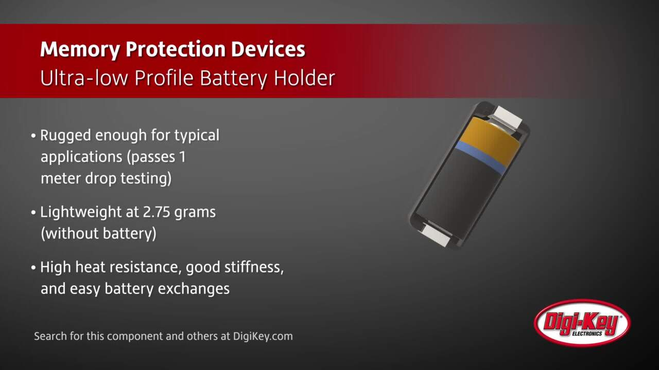 Memory Protection Devices BH123A Battery Holder | Digi-Key Daily