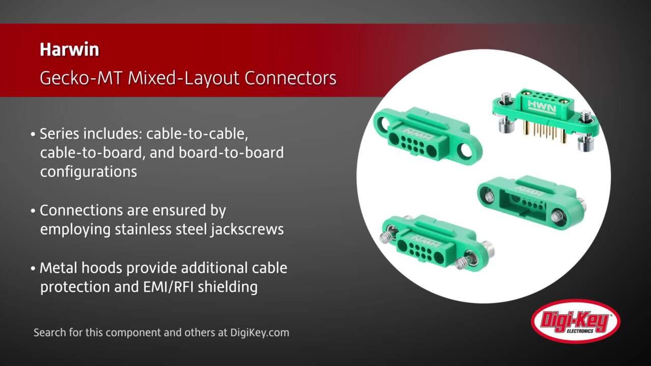 Harwin Gecko-MT Mixed-Layout Connectors | Digi-Key Daily