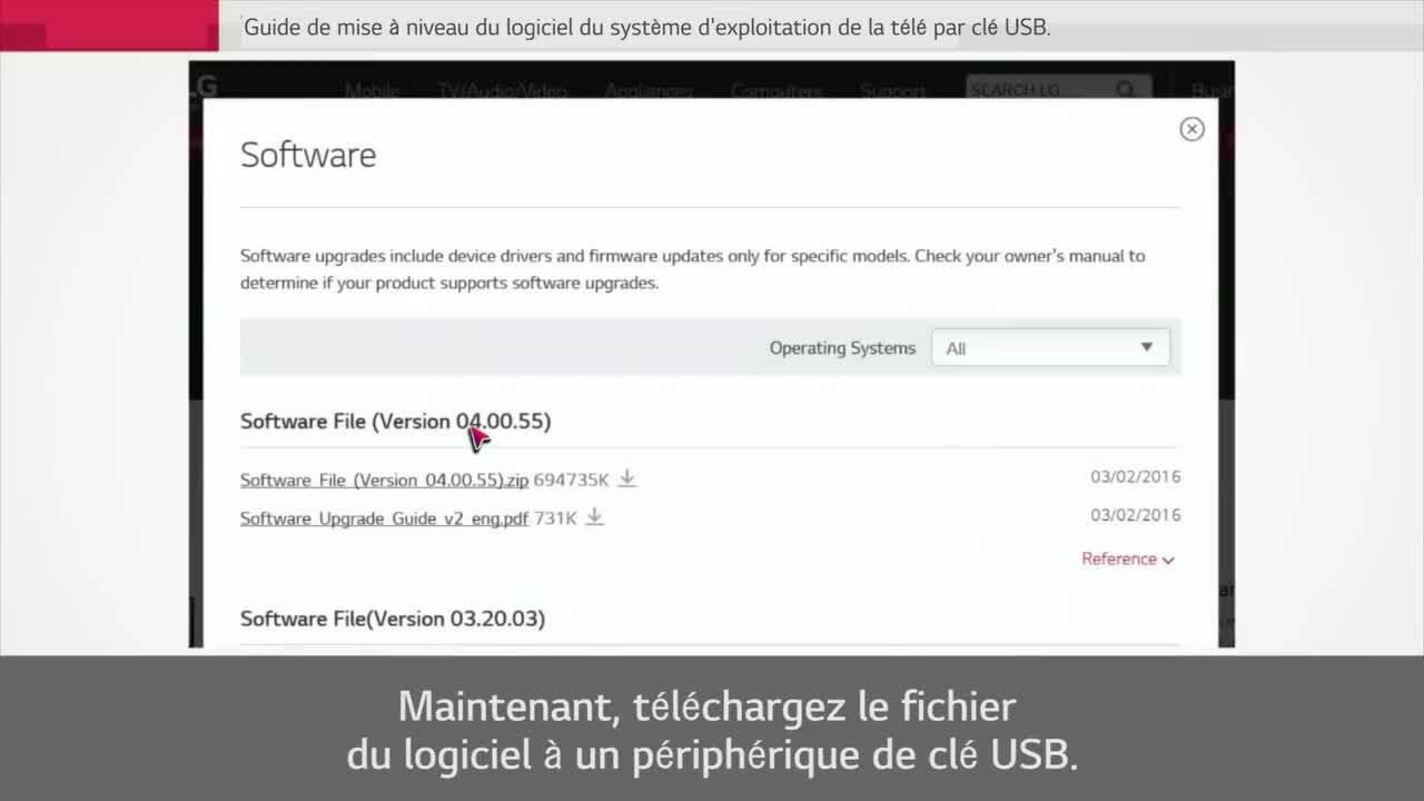 Tutoriels Video Video Lg Tv Guide De Mise A Niveau Du Micrologiciel De La Tele Par Le Biais D Une Cle Usb Lg Canada