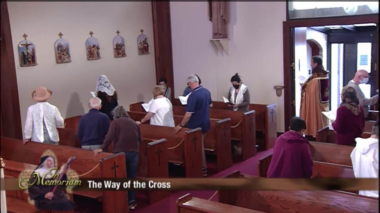 Via Crucis en el Aniversario del Tránsito de Madre Angélica - 2021-03-26 - Stations of the Cross on